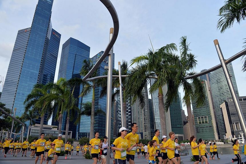 Participants taking part in the annual Run For Hope on Jan 31, 2015.