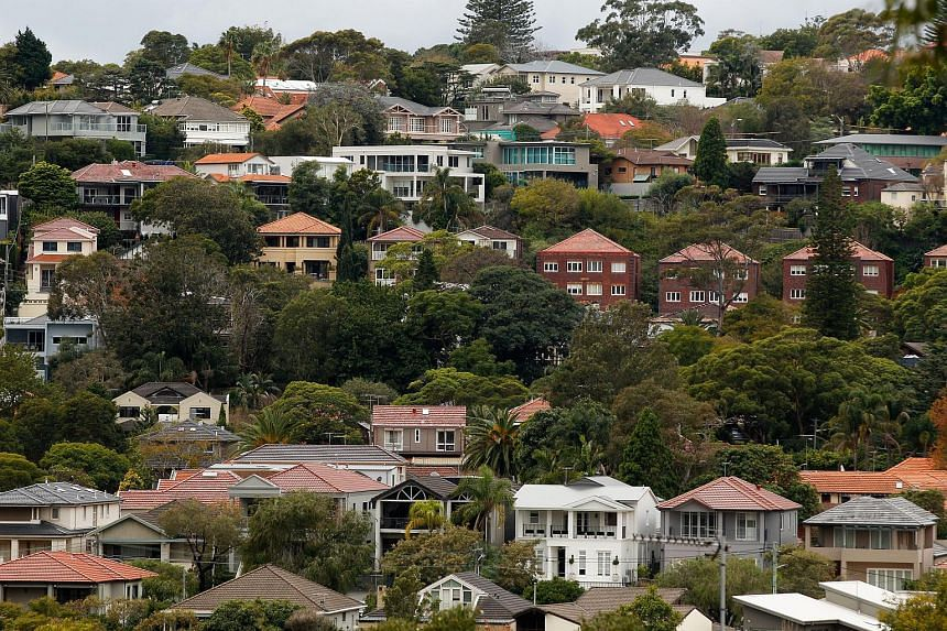 Houses standing in the suburb of Bellevue Hill in Sydney, Australia, on June 18, 2015.