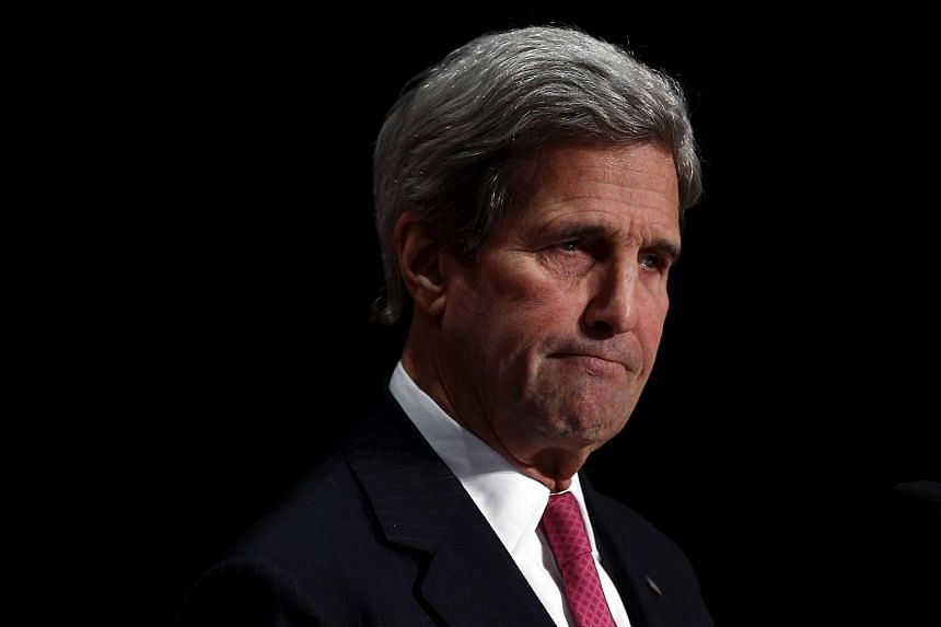 US Secretary of State John Kerry at the North American Foreign Ministers Meeting in Quebec City on Jan 29, 2016.