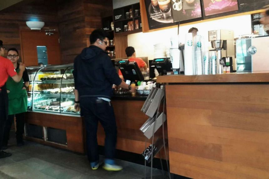 The Starbucks cafe at the Menara Cakrawala building in Jakarta. It reopened at 10am local time on Feb 1, 2016, after an explosion from a homemade bomb ripped through the American coffee joint on Jan 14, 2016.