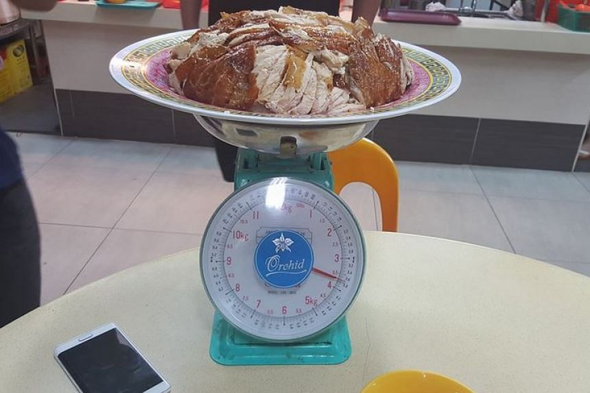 The specially prepared dish weighed close to 4kg.