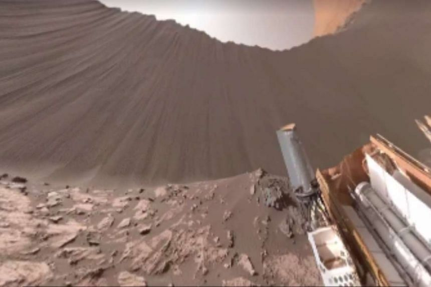 Nasa shared a video with a 360-degree view of Mars on Facebook.