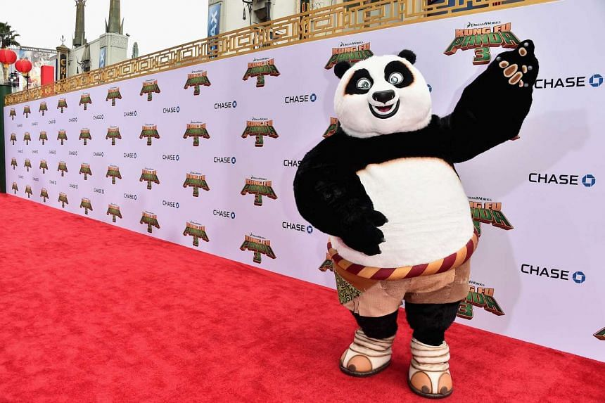 Po attends the premiere of Kung Fu Panda 3 at TCL Chinese Theatre on Jan 16, 2016 in Hollywood.