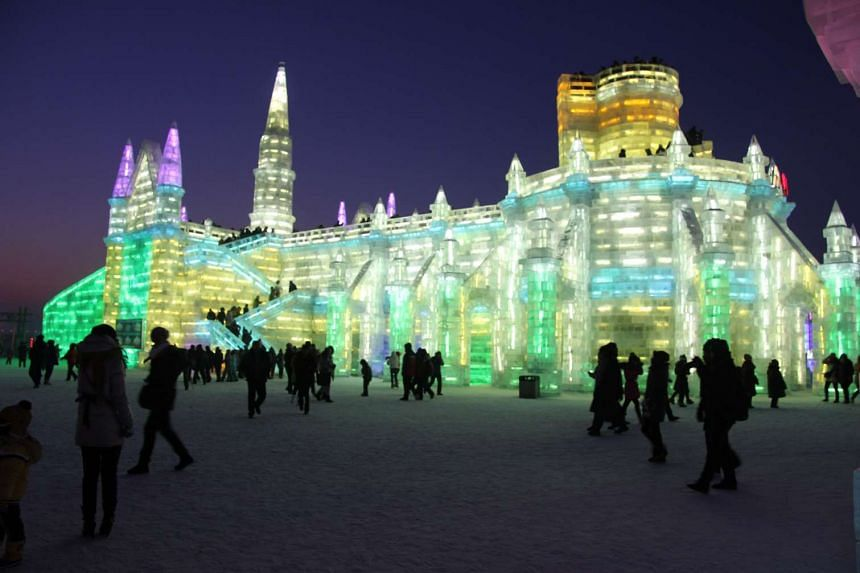 The Harbin Ice and Snow World is a popular travel destination in China.