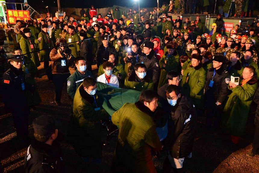 The four miners were among the 29 people trapped in a gypsum mine near Pingyi, Shandong, that collapsed on Dec 25. Eleven were rescued soon after, and one was found dead.
