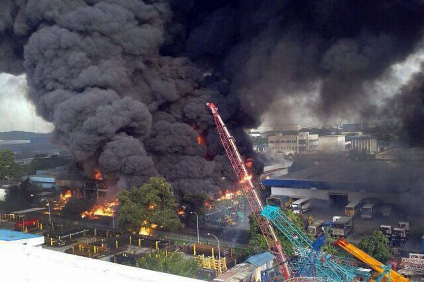 The resulting fire from the explosion spread to an area the size of about two football fields.