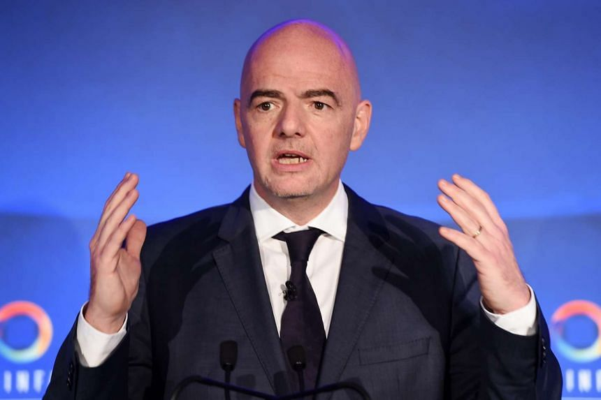 Fifa candidate Gianni Infantino unveils his manifesto for the Fifa Presidential campaign at Wembley Stadium in London, Britain, on Feb 1, 2016.