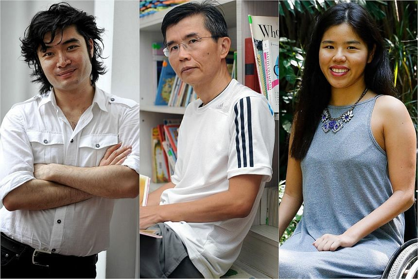 The first Straits Times Singaporean of the Year will be announced today from a list of nominees. The finalists include Darrel Ang (left), Ang Thiam Hock (centre) and Yip Pin Xiu.
