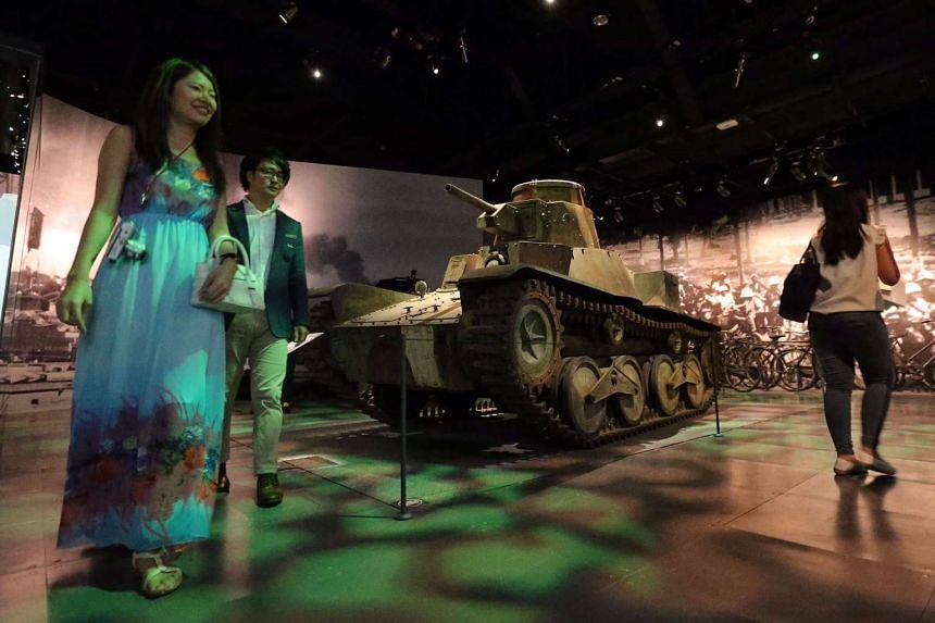 A replica of the Type 95 Ha Go Japanese tank on display at the National Museum of Singapore.