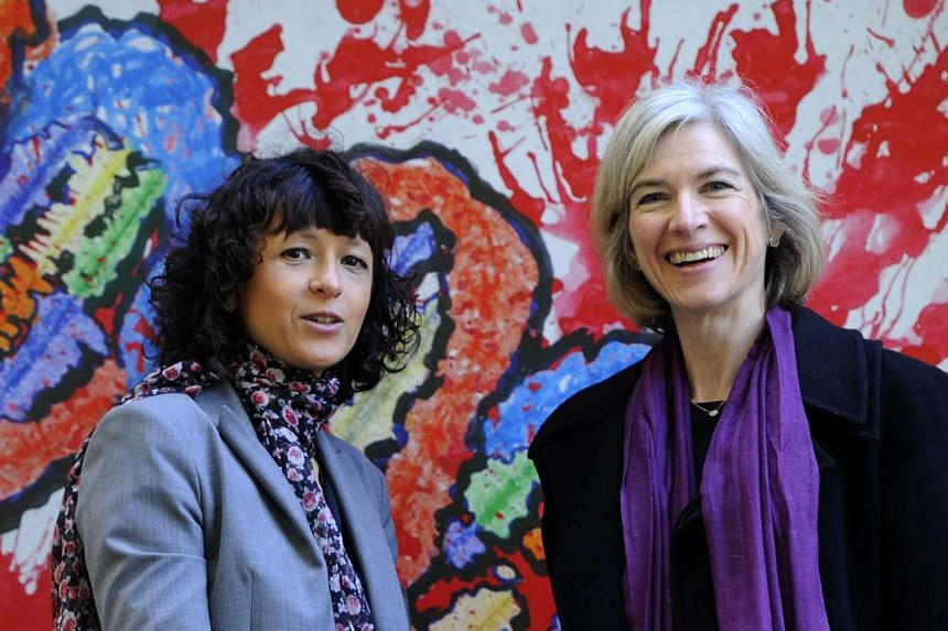 French genetics researcher Emmanuelle Charpentier (left) and US professor of Chemistry and of Molecular and Cell Biology Jennifer Doudna pose in San Francisco.