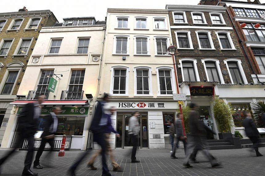 The HSBC premises in Chinatown in central London, Britain. HSBC, which is reviewing the location of its headquarters, will provide an update on whether it will move its base to Asia on Feb 22.
