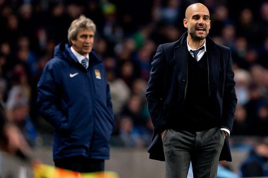 Manchester City have announced that Pep Guardiola (right) has inked a three-year deal to replace current manager Manuel Pellegrini at the end of the season. City's former Barcelona executives Txiki Begiristain and Ferran Soriano will be reunited with