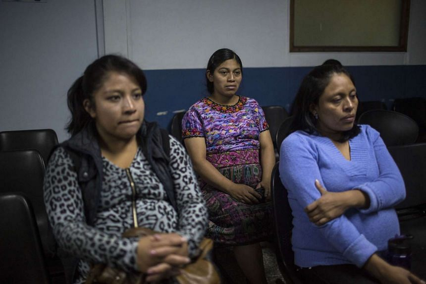 Pregnant women waiting to see the doctor at the Social Security Institute maternity ward in Guatemala City.