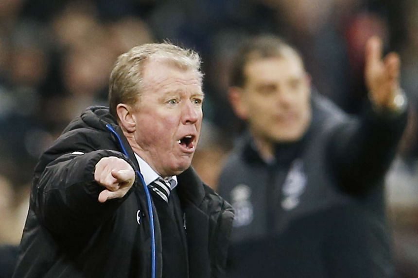 Newcastle manager Steve McClaren  at the Newcastle United versus West Ham United match of the Barclays Premier League in St James' Park on Jan 16, 2016.