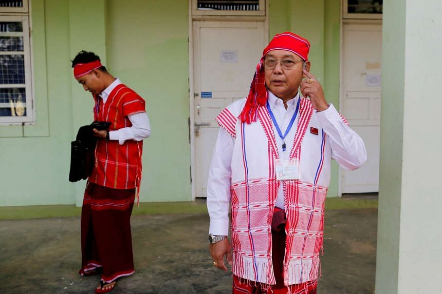 Mr Mahn Win Khaing Than leaving for the opening of the new upper house of Parliament on Feb 3, 2016.