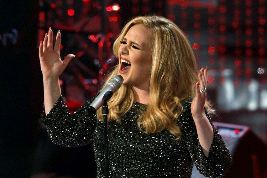 British singer Adele performs the song Skyfall at the 85th Academy Awards on Feb 24, 2013.