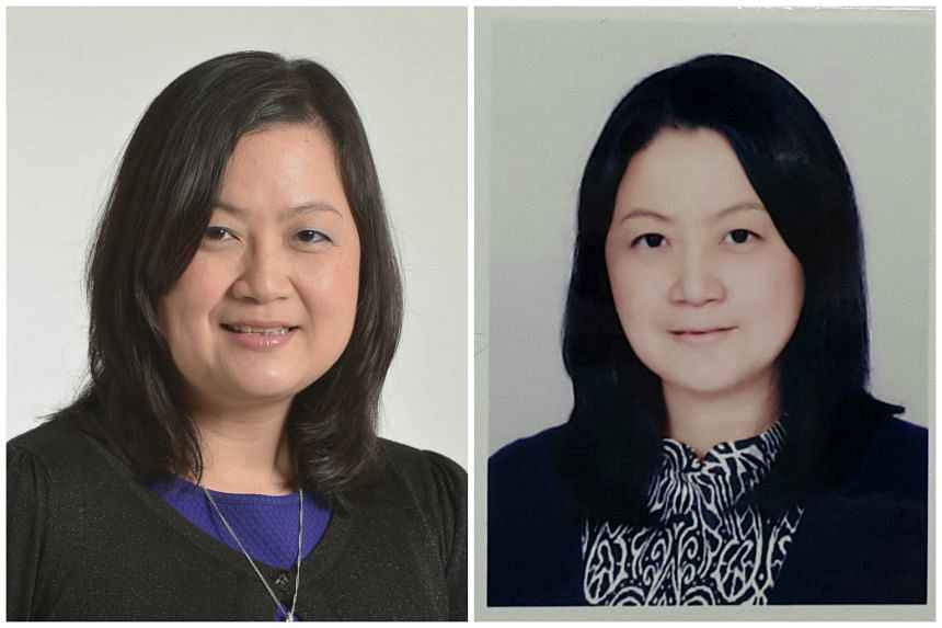 A regular photo of ST's South Korea correspondent Chang May Choon (left) and her edited ID photo.