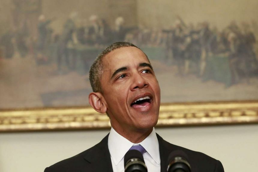 """Obama (above) """"reaffirmed continued US support for a strong United Kingdom in a strong European Union""""."""