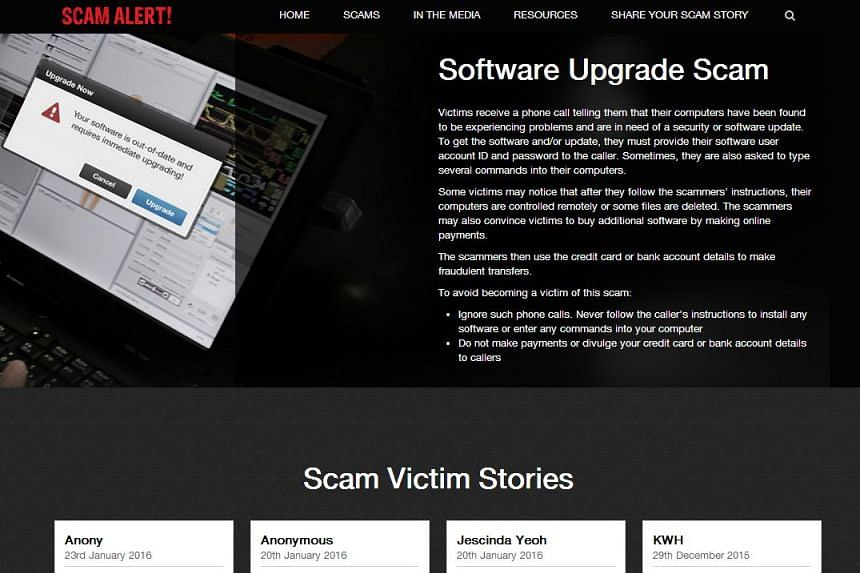 Victims of the scam reportedly received a call informing them of problems on their computers.