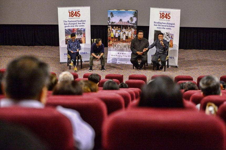 ST readers attending a post-movie discussion panel with director Jack Neo and ST's John Lui.