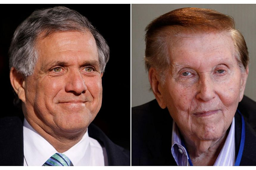 Mr Leslie Moonves (left) is likely to replace Mr Summer Redstone (right) as executive chairman of CBS Corp.