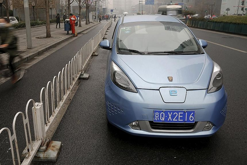 Electric cars are seen as one way to get around bad air days in Beijing. China became the world's largest electric car market last year with about 220,000 to 250,000 units sold. But doubts have been raised over whether the sector can be commercially