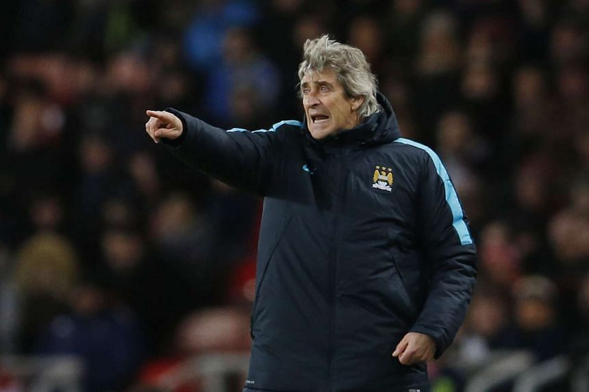 Manchester City's manager Manuel Pellegrini during the English Premier League match against Sunderland.