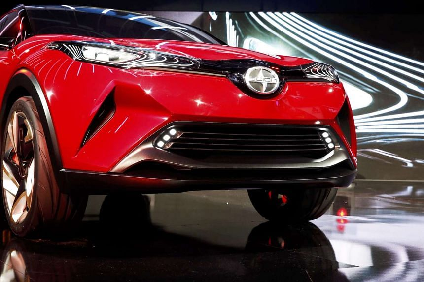 The Scion C-HR concept car is introduced at the LA Auto Show in Los Angeles in November, 2015.