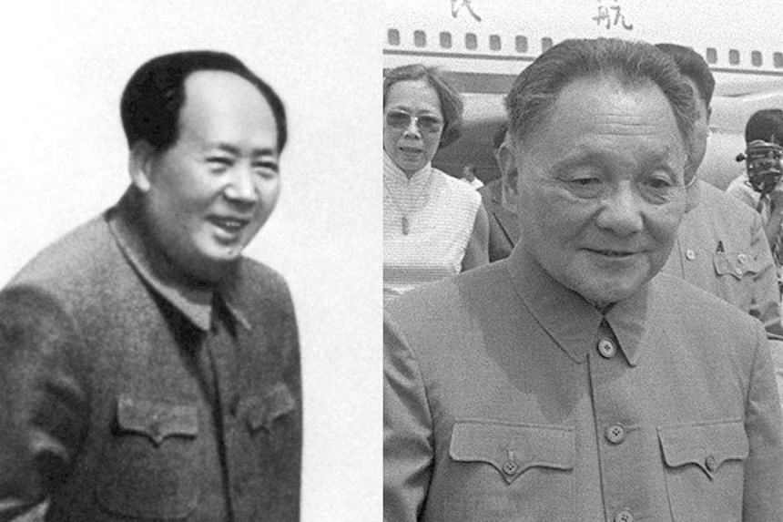 "Previous ""core"" leaders: The Great Helmsman Mao Zedong (left) and Paramount Leader Deng Xiaoping."
