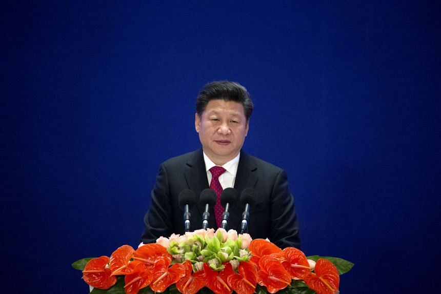 Chinese President Xi Jinping at the opening ceremony of the Asian Infrastructure Investment Bank in Beijing on Jan 16, 2016.