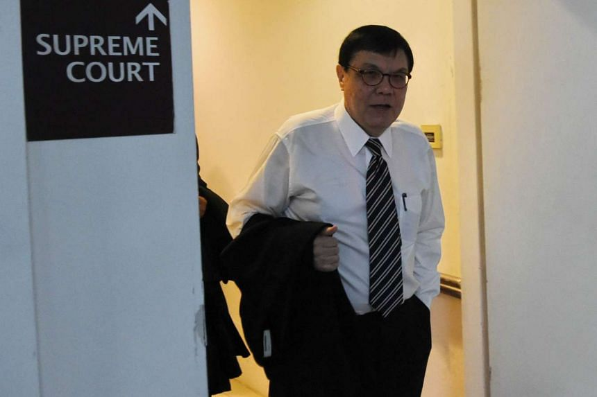 Lawyer Roderick Martin, representing BSI private banker Yak Yew Chee, leaves the supreme court in Singapore on Feb 5, 2016.