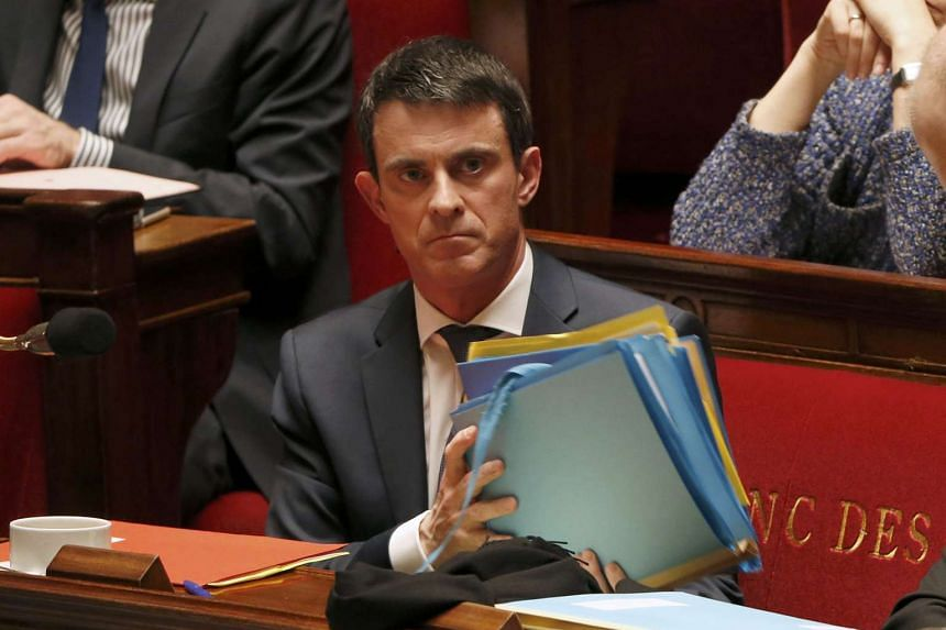 French Prime Minister Manuel Valls at the start of a parliament debate at the National Assembly in Paris, France on Feb 5, 2016.