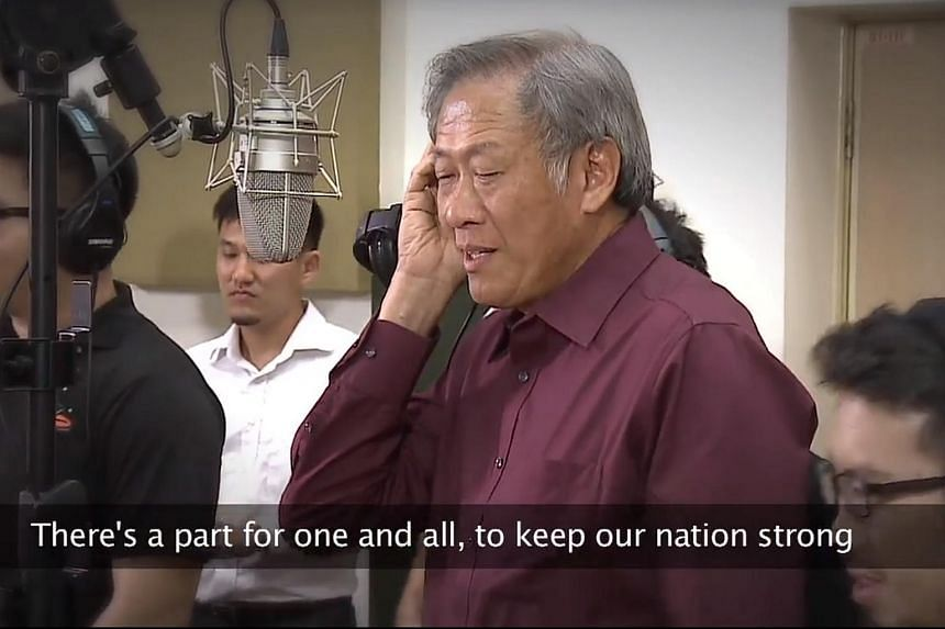 Defence Minister Ng Eng Hen singing in a music video posted on Facebook on Friday (Feb 5).