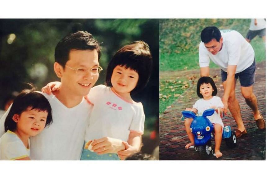 Josephine Teo's husband Teo Eng Cheong with their children.