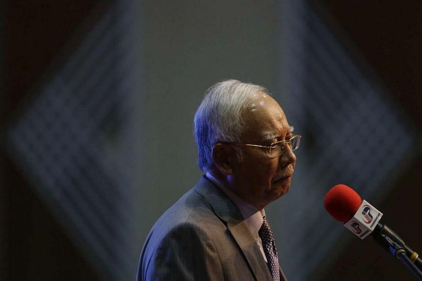 Malaysia Prime Minister Najib Razak at the announcement of the revised budget 2016 at Putrajaya, Malaysia, on Jan 28, 2016.
