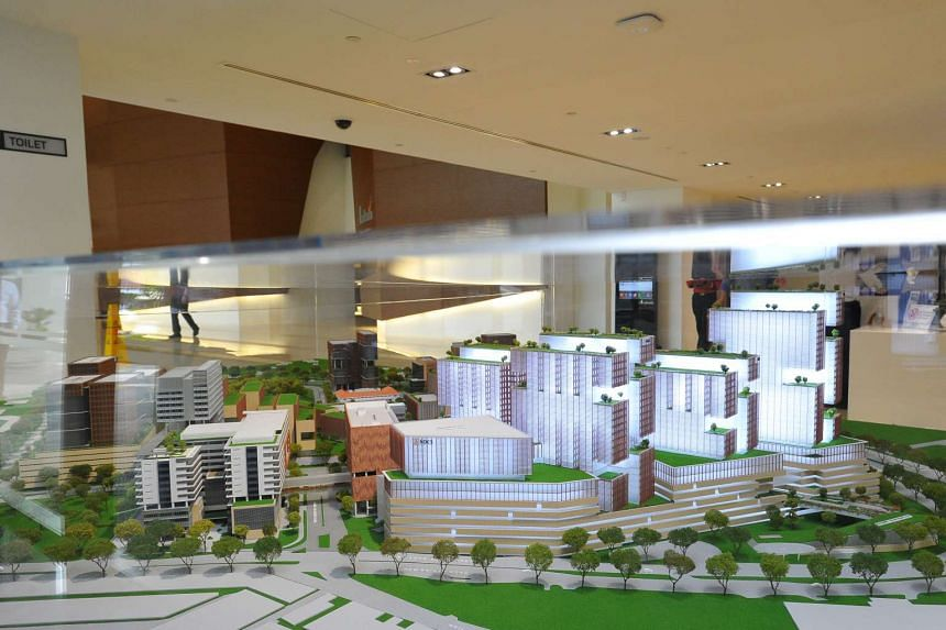 A model of SGH's new masterplan.
