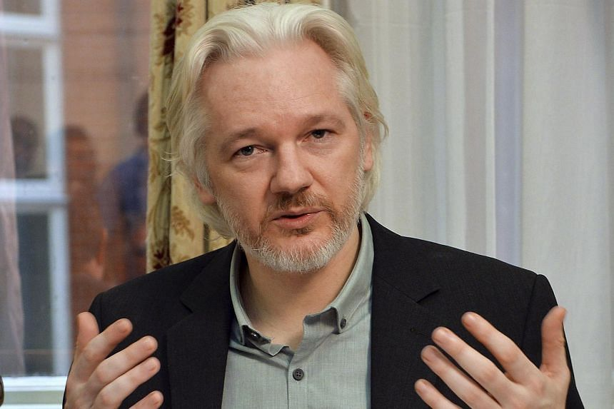 WikiLeaks founder Julian Assange at a news conference in London on Aug 18, 2014.