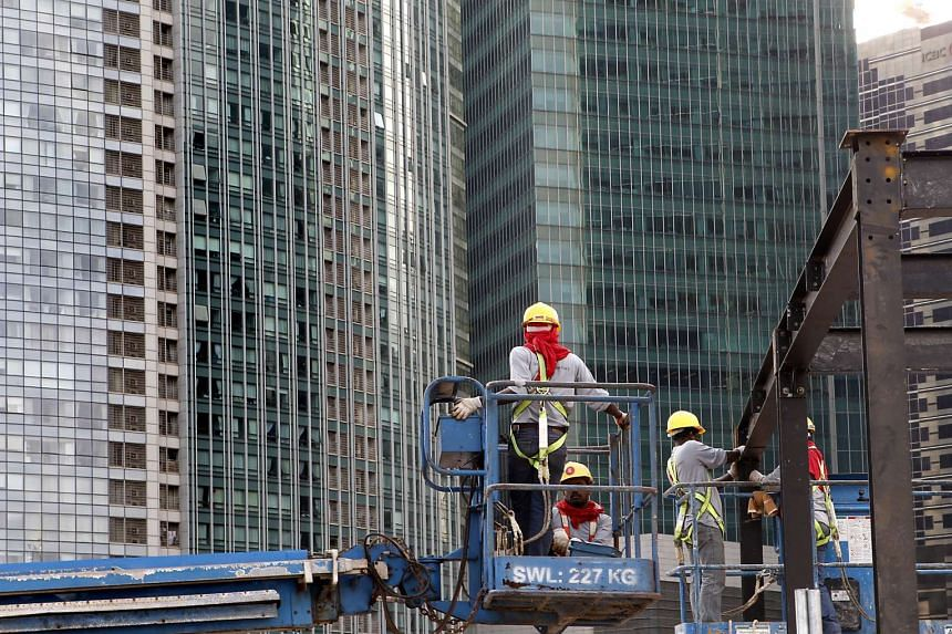 Workers at a construction site.