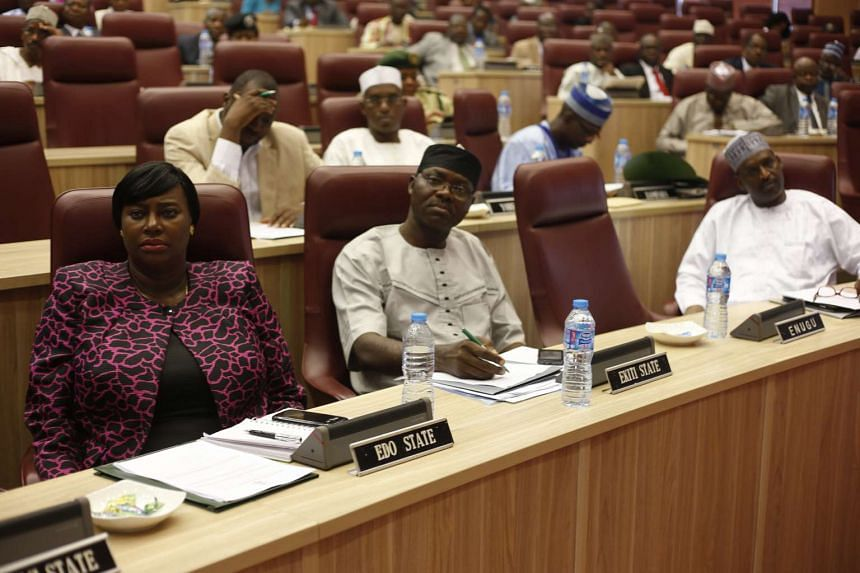 Attendees listen during an emergency National Council on Health meeting on the control of Lassa Fever in Abuja, Nigeria, Jan 19, 2016.