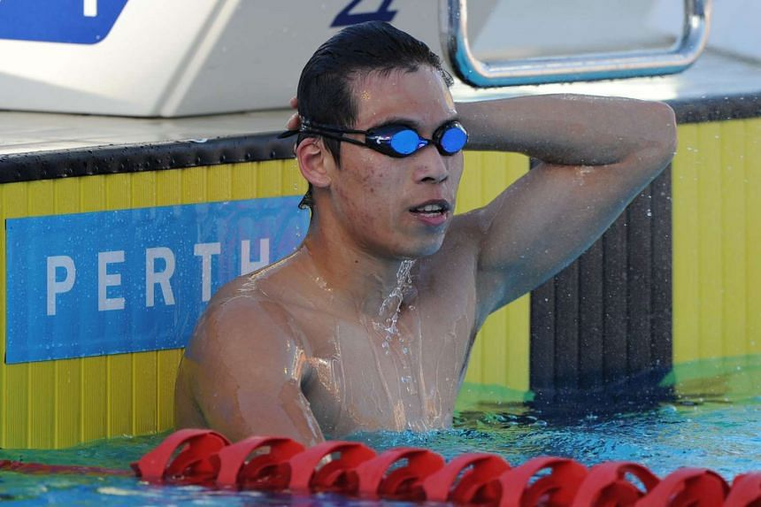 China's Li Zhuhao wins the men's 100m butterfly event at the final day of the Aquatic Super Series swimming event in Perth on Feb 6, 2016.