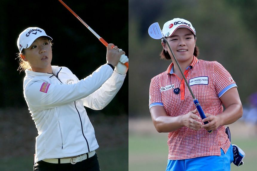 World No. 1 golfer Lydia Ko (left) was tied for the lead with Jang Ha Na.