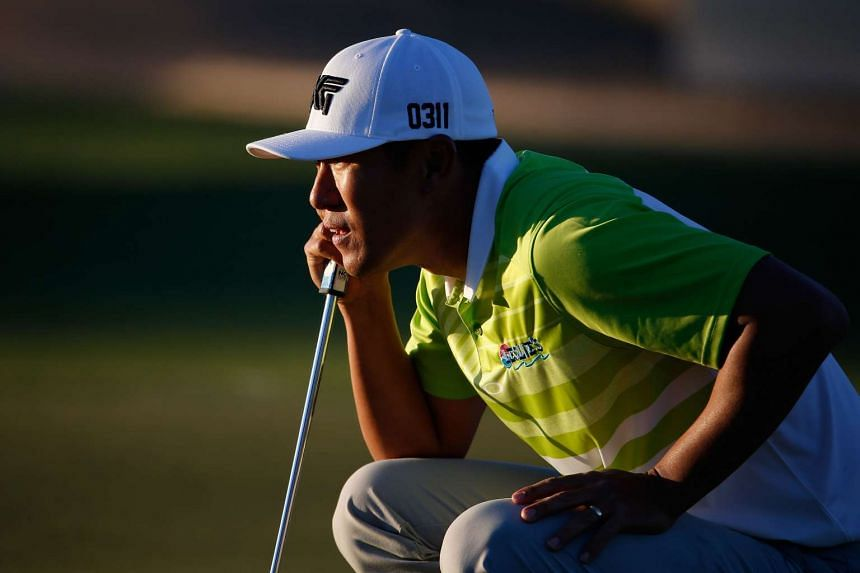James Hahn lining up a putt during the second round of the Phoenix Open at TPC Scottsdale on Feb 5.