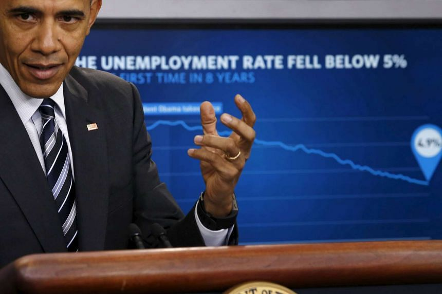 Obama delivers a statement on the economy in the press briefing room at the White House.