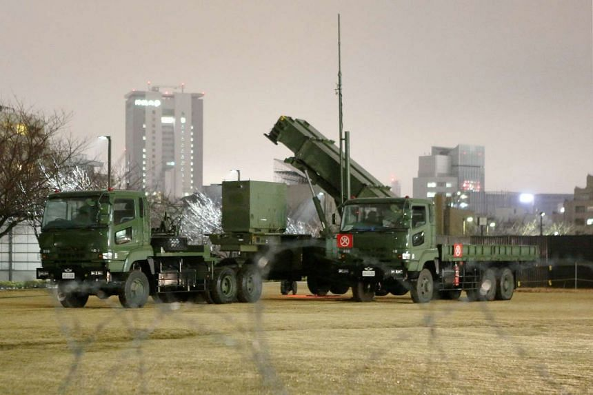 A missile launcher is deployed on the grounds of the defence ministry in Tokyo on Jan 29.