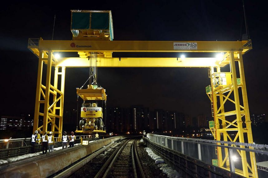 The cranes allow road-rail vehicles to be deployed more quickly along the line.