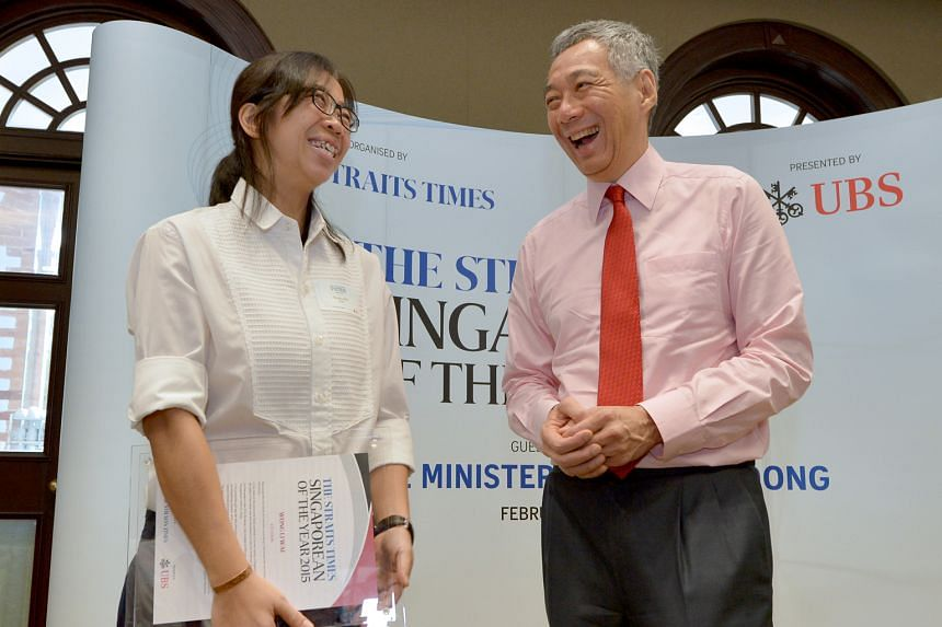PM Lee cites The Straits Times Singaporean of the Year finalist nurse Wong Li Wai as having made a difference to Singapore and the world.