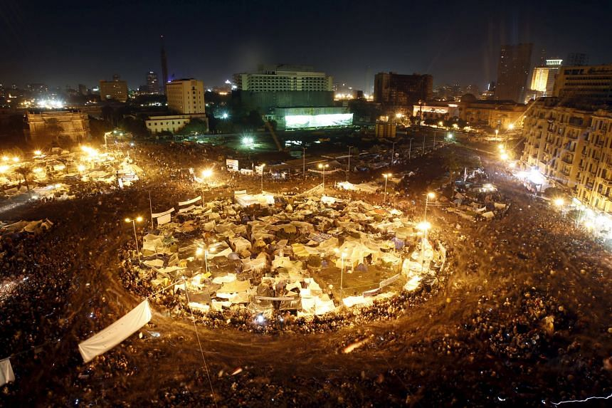 Anti-government protesters in Cairo's Tahrir Square on Feb 10, 2011, demanding the end of the 30-year reign of President Mubarak. Mubarak resigned the next day. Many of the liberal protesters had years of organising experience, yet they couldn't