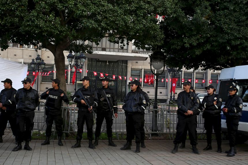 Police deployed outside the Interior Ministry in Tunis last month. Despite recent protests over rampant unemployment, Tunisia is the only country to emerge from the Arab Spring with anything approaching a real democracy, thanks to strong institutions