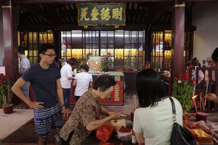 Singapore's oldest Chinese temple has been festooned with over 2,000 lanterns and will host a string of performances to usher in Chinese New Year.