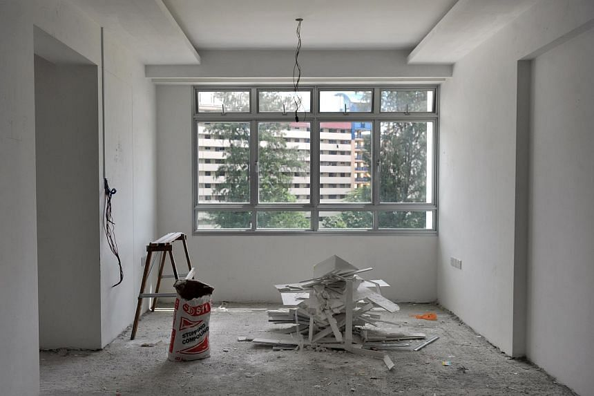 A flat in its beginning stage of renovation.